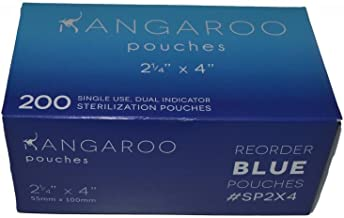 3D Dental SP2X4 Kangaroo Self-Seal Sterilization Pouches, 2.25