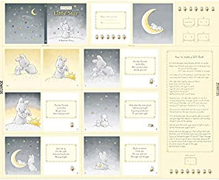 Timeless Treasures Bunnies by The Bay Little Star Yellow Storybook Panel 36 inch