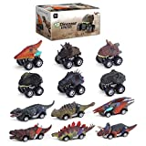 12 Pack Car Toy Dinosaur Toys for Boys 2 3 4 Year Old Boys Pull Back Truck Toddler Cars Vehicles Monster Dino T-Rex Birthday Gift for Age 5 6 7 Kids