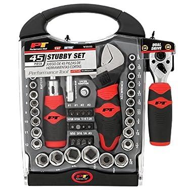 Performance Tool W39000 45 Piece Stubby Set