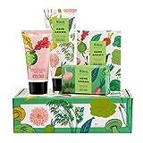 RHS Beauty Home Grown Care Gift For Hands, 100Ml Hand Cream, 100G Soothing Oat Soap, 25G Hand Soak Salts, 50Ml Moisturising Antibacterial Hand Gel