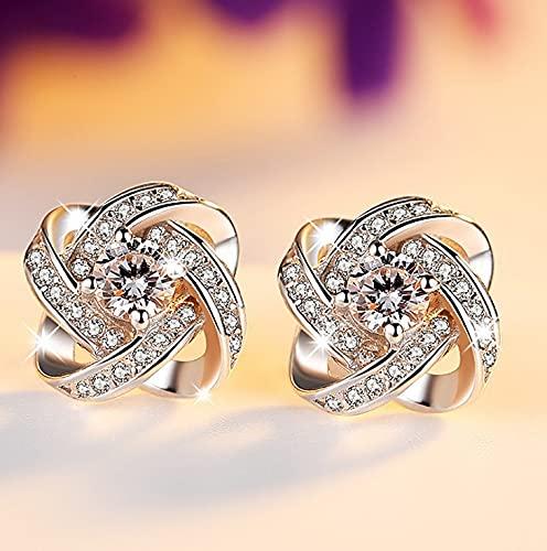 WANGSHI Diamant-Bohrer Kristall Blume Ohrringe Kleine Frische Mädchen Ohrring Schmuck Geeignet Für Hundert a5 Weiß