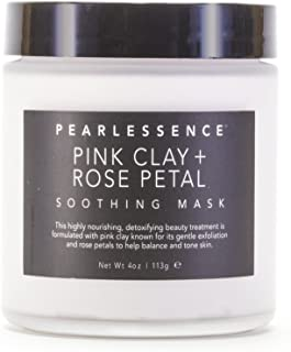 Pink Clay + Rose Petal Soothing Face Mask   Detoxifying Beauty Treatment   Gently Exfoliates   Deeply Moisturizing   Made ...