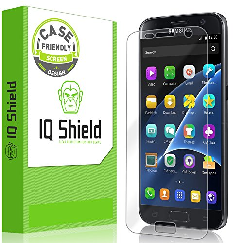 IQShield Screen Protector Compatible with Samsung Galaxy S7 (Case Friendly) Anti-Bubble Clear Film