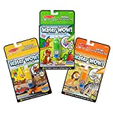 Three water reveal activity books with water pen in each Vehicles, Animals, and Safari water reveal pads Water reveals pictures; dry to erase and reuse Pen stores in cover for no mess cleanup Ages 3+; three books, 6 x 10 inches each