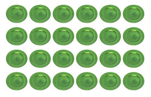 Platzteller Dekoteller Ø 33 cm grün Set