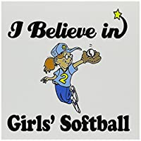 Dooni Designs I Believe In – I Believe In Girlsソフトボール – グリーティングカード Set of 12 Greeting Cards
