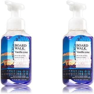 Bath & Body Works Gentle Foaming Hand Soap Boardwalk Vanilla Cone 2017 - Set of 2