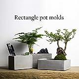 ShAwng Rechteck Blumentopf Formen Silikon Beton Formen DIY Zement Pflanzgefäße konkrete Garten...