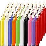 MAISITOO Velas 60 Colores Surtidos de hechizos Velas sin Goteo pequeño para Chimes, Magia, Congregación, vigilia con Velas, rituales, Decoración de Fiesta (10 Colores) 4 Pulgadas de Alto