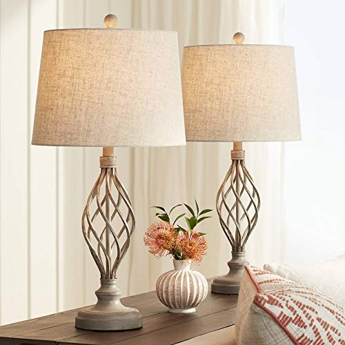 Annie Sand Iron Scroll Table Lamps Set of 2 - Franklin Iron Works