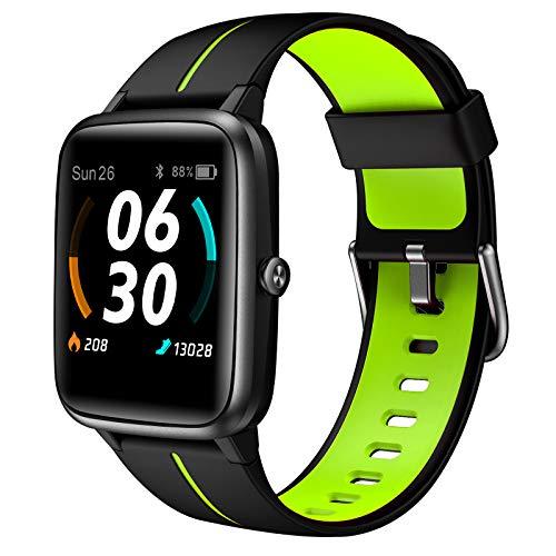 Smartwatch, AKWLOVY Orologio Fitness Tracker Uomo Donna Con GPS Integrato Cardiofrequenzimetro da Polso Contapassi Impermeabile 5ATM Touchscreen Smart Watch Quadrante Personalizzato per Android IOS