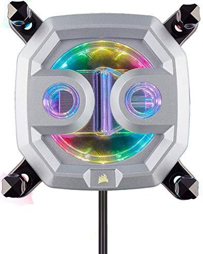 Corsair Hydro X Series XC9 RGB CPU-Wasserkühler (für Intel LGA 2011/2066 oder AMD sTR4 Sockel, Kompromisslose CPU-Kühlung, Anpassbar Integrierte RGB-Beleucht, Einfache Montage) Chrom