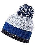 Ziener Erwachsene INTERCONTINENTAL hat Bommel-mütze/ warm, gehäkelt, blau (dark...