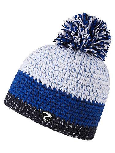 Ziener Erwachsene INTERCONTINENTAL hat Bommel-mütze/ warm, gehäkelt, blau (dark blue), Einheitsgröße