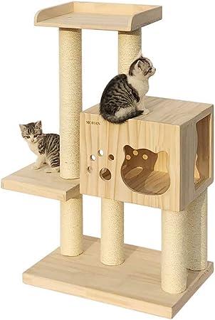 HEG-Árboles para gatos Gato Columpio Gato Gato Arena Gato árbol Madera sisal Gato Saltando Gato Muebles Gato Marco Gato escalando Marco Madera sólida Gato rasguño Columna (Color : A): Amazon.es: Hogar