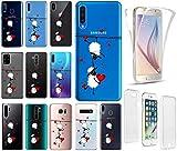 KX-Mobile Hülle für Samsung A51 Handyhülle Motiv 2047 Schafe & Herzen Premium 360 Grad Fullbody durchsichtig mit Bild SchutzHülle Softcase HandyCover Handyhülle für Samsung Galaxy A51 Hülle