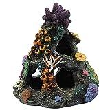 SALUTUYA Decoración de Acuario de Resina, Acuario de rocalla de simulación, decoración de Acuario con Cueva, Adaptado para pecera