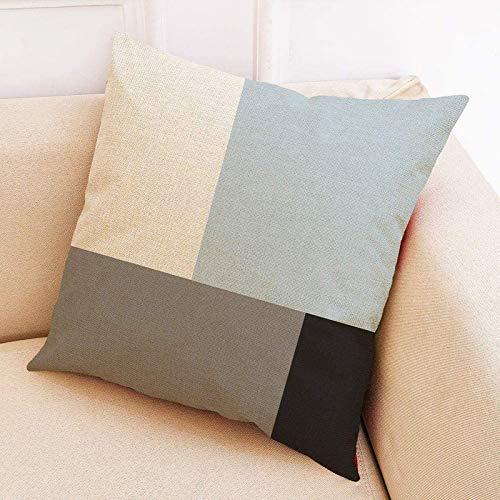 N/P Household Cotton and Linen Pillowcase, Car Back Cushion Cover, Sofa Pillow Cushion