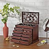Immagine 1 songmics scatola portagioie in legno
