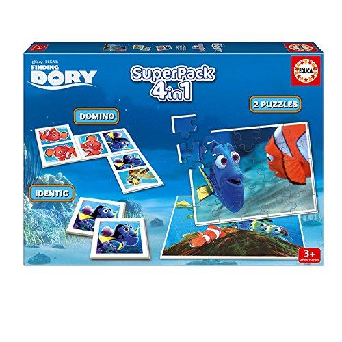 Educa Borrás Buscando a Dory - Superpack con 2 Puzzles, identic memo Game y dominó 16691