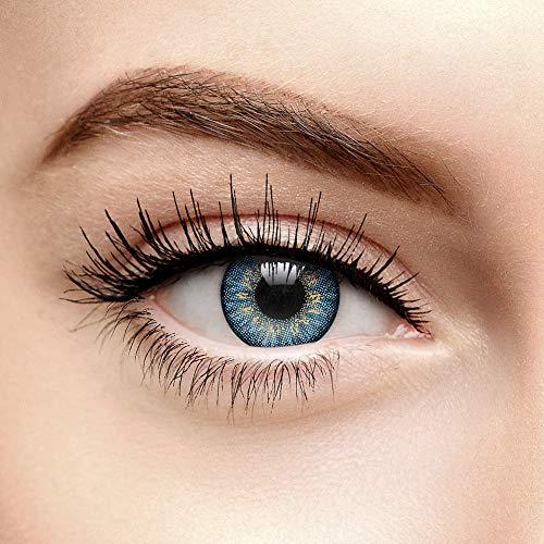 Chromaview 3 Ton Natürlich Gefärbte Kontaktlinsen Ohne Stärke Blau (Tageslinsen)