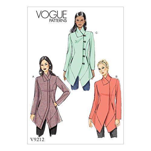 Vogue Mustern 9212A5Schnittmuster Jacke, Tissue, Mehrfarbig, Größen 6–14