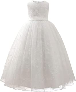 AIOJY Bordado Vestido De Los Niños Elegante Vestido De Princesa Vestido De Novia Bautismo Vestido del Desfile Tul para Niñ...