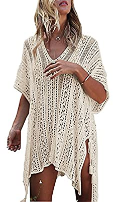 JOYEBUY Womens Beach Swimsuit Bathing Suit Cover Up Beach Bikini Swimsuit Swimwear Crochet Dress