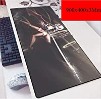 ゲーミングマウスマットラージマウスマット| 900 X 400ミリメートル| XXLマウスパッドカスタムプロフェッショナルマウスパッド、ステッチエッジ、デスクカバー、コンピュータのキーボード、PCやラップトップに最適 (Color : D)