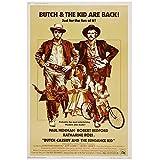 ZFLSGWZ Butch Cassidy And The Sundance Kid - Póster de película vintage (60 x 80 cm), diseño de cassidy