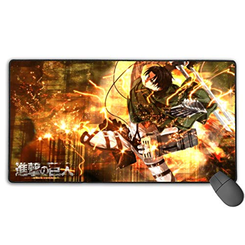 Ergonomisches Gaming-Mauspad mit abgenähten Kanten, Hochleistungs-Magic-Mousepad, optimiert für schnelle Steuerung, Angriff auf Titan Levi & iexcl; & Curren; Ackerman