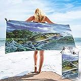 Lsjuee Toalla de Ducha con Suela de Animal, Pescado y salmón, Microfibra, súper Absorbente de Agua, para Cubrir el baño, Toalla de Playa de Secado rápido, Multiusos, Esterilla Deportiva para Yoga, e