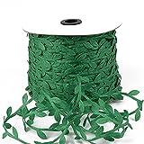10mètre de soie feuille de feuilles artificielles feuilles vertes pour la décoration de mariage de mariage de la maison de mariage scrapbooking fausse fleur (Color : Green)