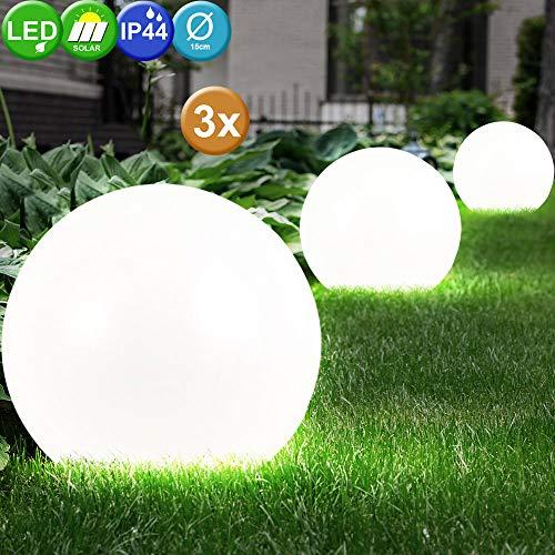 LED Außenleuchte Außenbeleuchtung Beleuchtung Gartenleuchte Solar Leuchte Kugelform 3er Set
