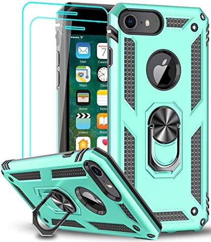LeYi Compatible for iPhone 8 Case iPhone 7 Case iPhone 6s 6 Case with Tempered Glass Screen product image