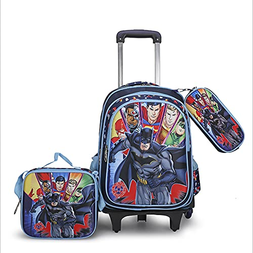 LXW Zaino per Bambini Zaino Rimovibile con rotelle Set di valigie per Bambini Impermeabili per Ragazzi e Ragazze D-40cm* 31cm*11cm