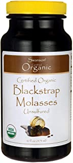 Swanson Certified Organic Blackstrap Molasses 16 fl Ounce (473 ml) Liquid