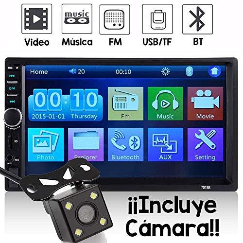 Auto Estereo Pantalla Touch 7 Pulgadas Bluetooth Doble 2 DIN Aux SD Mp3