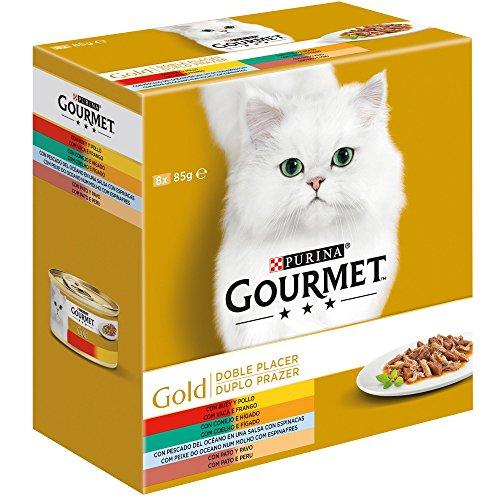 Purina Gourmet Gold Doble Placer Surtido comida para gatos 8 x 85 g