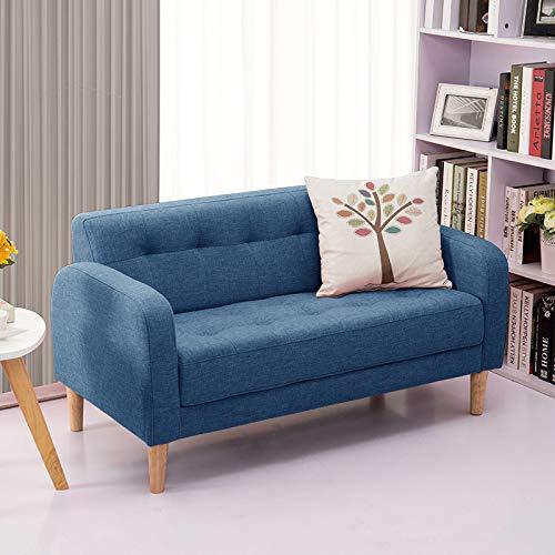 QZXCD Sofá de Tela Creativa Sofá pequeño Apartamento pequeño Dos Personas Doble para Tres Personas Económico Mini Dormitorio Balcón Alquiler de habitación 64x64x120cm II