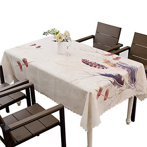 Tissu de table rectangulaire tissu polyester Nappe jacquard décorative Idéal pour table de buffet, Très jolie décoration pour, Repas de fête, Mariage & plus-A 130x190cm(51x75inch)