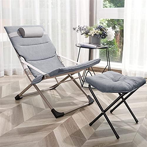 CHLDDHC Silla reclinable Silla de salón Plegable Zero Gravity de Gran tamaño, sillas de Cubierta para jardín, Patio al Aire Libre, tumbonas, Cama, reclinable con Almohada para la Cabeza