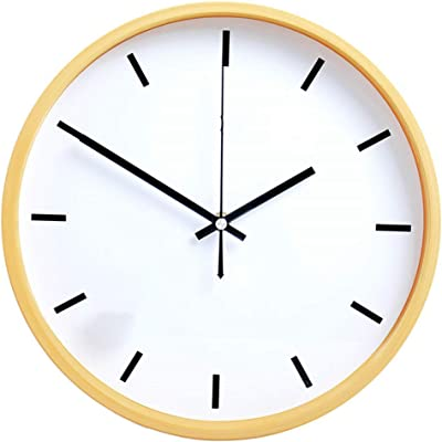 Qioop Wall Clock Wall Clock Office Clock Living Room Office Bedroom Silent Simple Quartz Clock