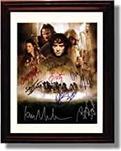 Framed Cast of The Lord of The Rings Autograph Replica Print - Lord of The Rings