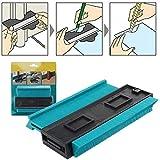 SXYHKJ Medidor de Contornos para Suelo-5 pulgadas/125 mm Perfil de plástico Duplicador de medidor de contorno Herramienta de marcado de madera Azulejos laminados,Regla de Medición (125MM)