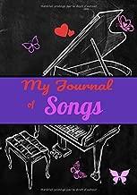 My journal of songs: blank sheet music notebook 7x10