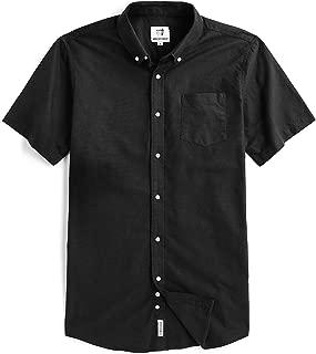 Men's Short Sleeve Oxford Button Down Casual Shirt