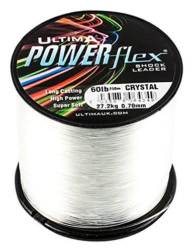 ULTIMA Herren Powerflex Hohe Festigkeit Schlagschnur 115gr Spule, Transparent, 0.65mm-50.0lb/23.0kg