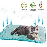 Dreameryoly Verbesserte Katzen-Kühlmatte, Haustier-Katzen-selbstkühlende Bettmatten-Wiederverwendbare waschbare wasserdichte schnelle Kühlmatte für Hundekatzen